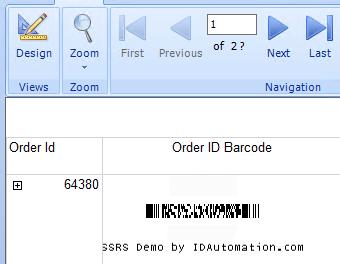 PDF417 2D SSRS Barcode Script