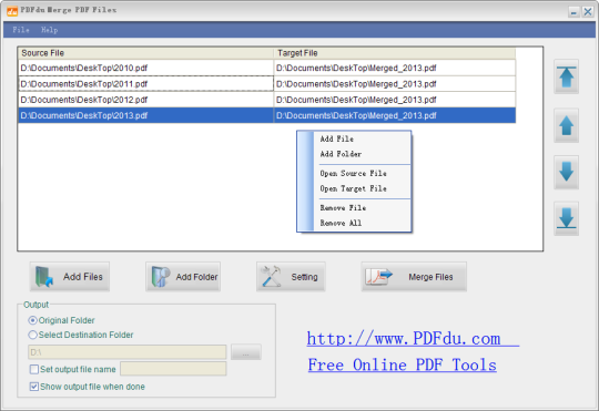 PDFdu Free Merge PDF Files