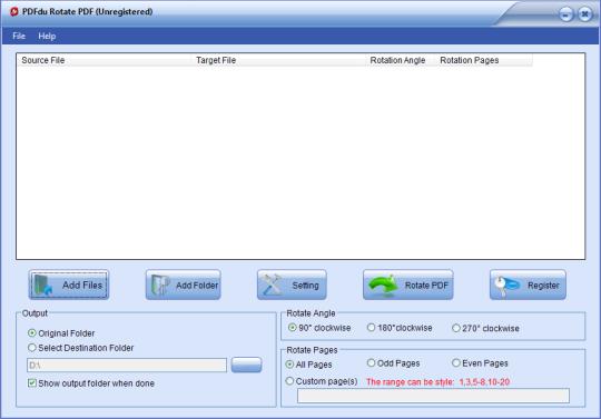 PDFdu Rotate PDF