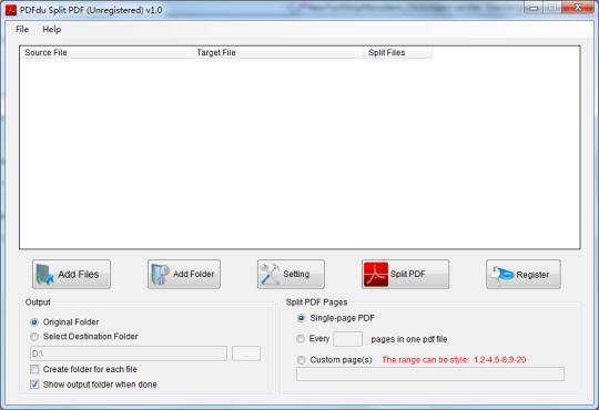 PDFdu Split PDF