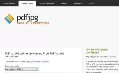 PdfJpg PDF to JPG Online Converter