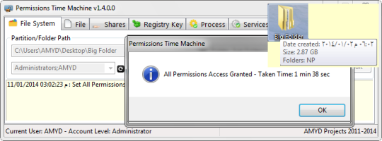 Permissions Time Machine Lite