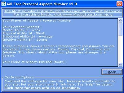 Personal Aspects Number