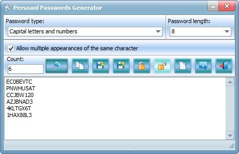Personal Passwords Generator