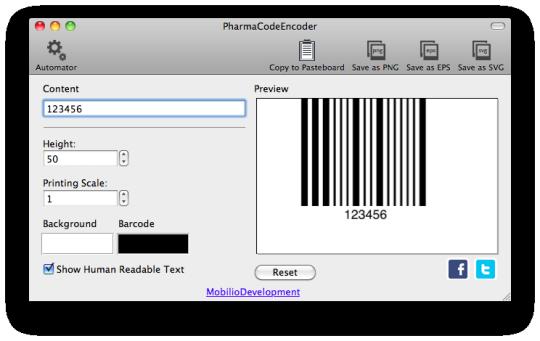 PharmaCodeEncoder