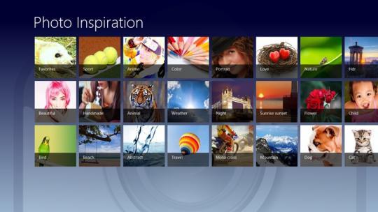 Photo Inspiration for Windows 8