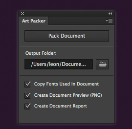 Photoshop Art Packer Plugin