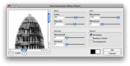Photoshop Comic Tone Generator (PPC)