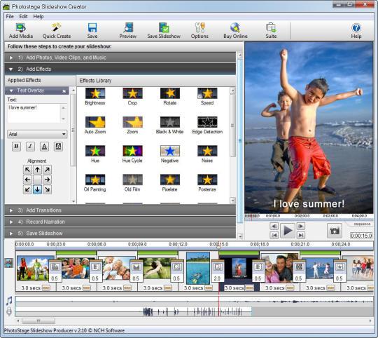 PhotoStage Photo Slideshow Free