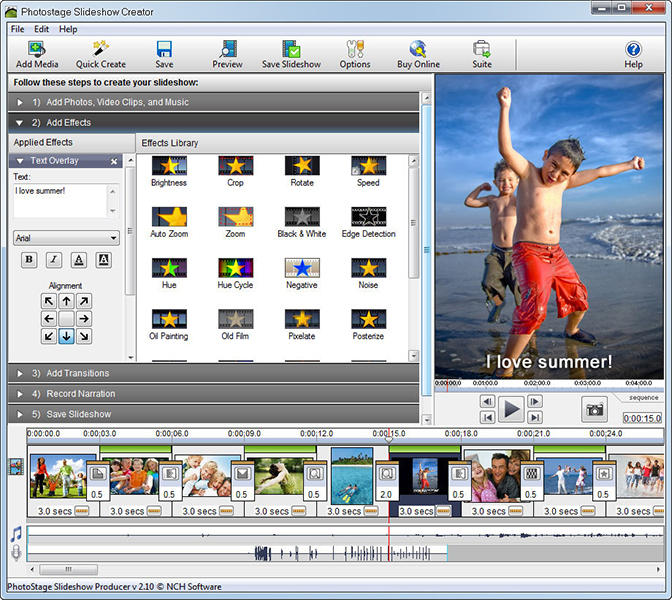 PhotoStage Professional Slideshow Maker for Mac