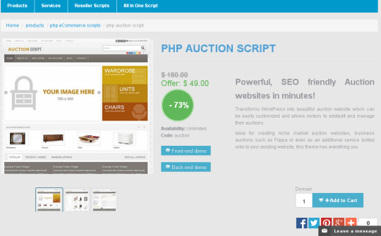PHP Auction Script