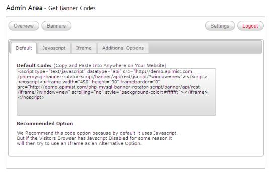 PHP MySQL Banner Rotator Script