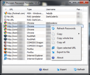 Phrozen Password Revealer