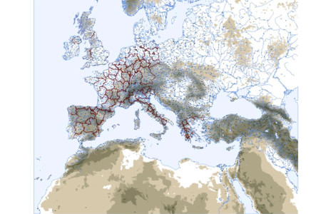 Physical Vector Map of Europe 2009
