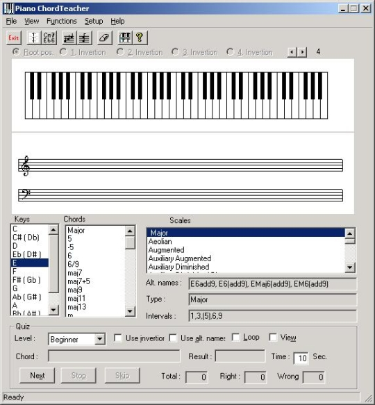 Piano ChordTrainer