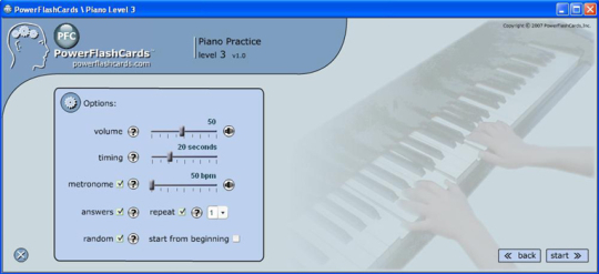 Piano Flash Cards Exercises for Mac