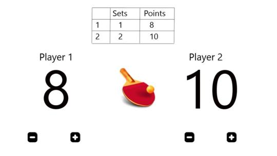 Ping Pong Counter for Windows 8