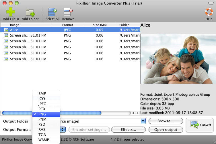 Pixillion Free Photo and Image Converter for Mac