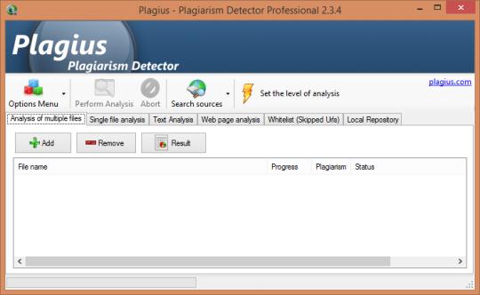 Plagius Plagiarism Detector Professional