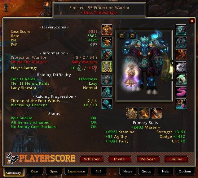 PlayerScore (GearScore)