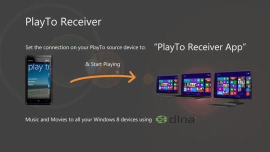 PlayTo Receiver for Windows 8