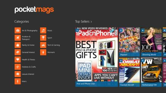 Pocketmags for Windows 8