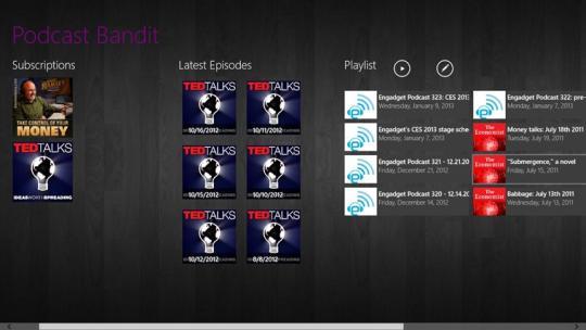Podcast Bandit for Windows 8