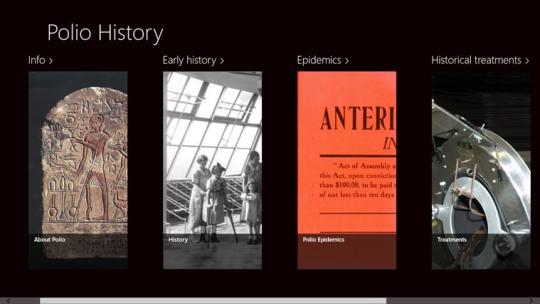 Polio History for Windows 8