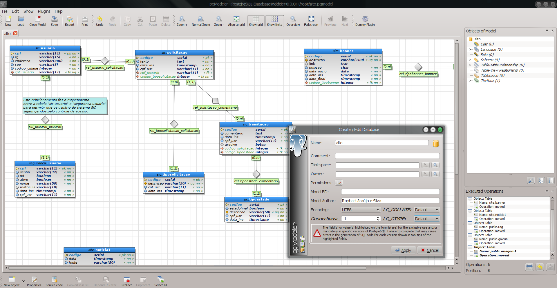 PostgreSQL Database Modeler