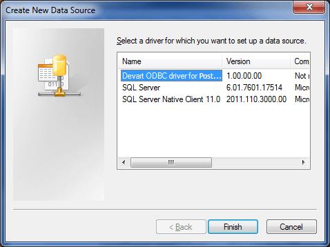 PostgreSQL ODBC driver