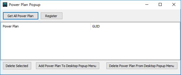 Power Plan Popup