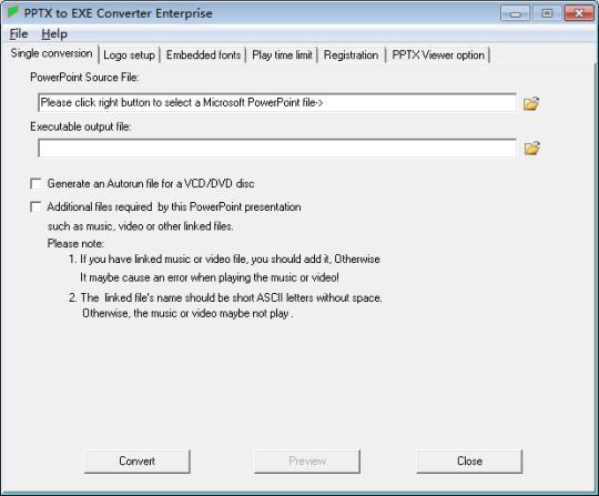 PPTX to EXE Converter Enterprise