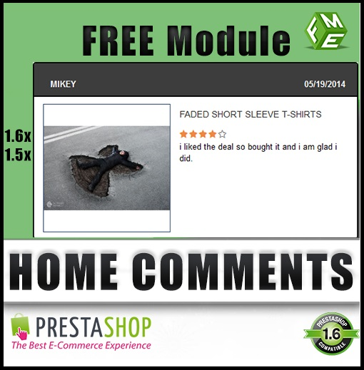 PrestaShop Home Reviews