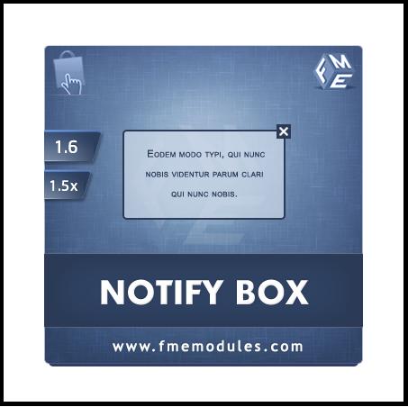 PrestaShop Notification Box