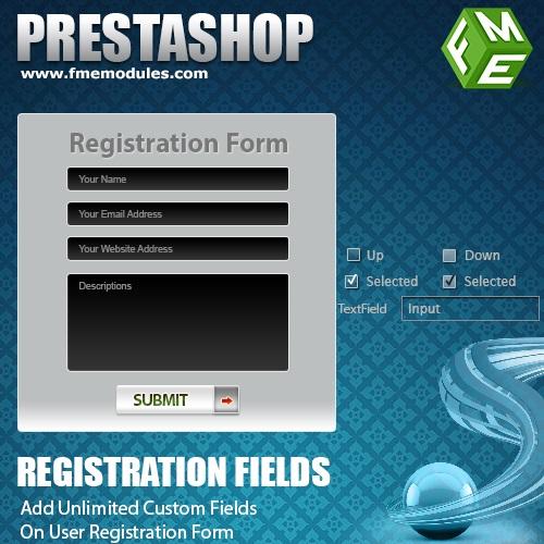 PrestaShop Registration Fields Module