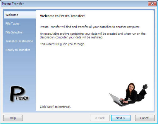Presto Transfer IE and Windows Mail