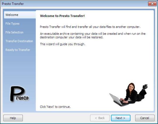 Presto Transfer Windows Mail