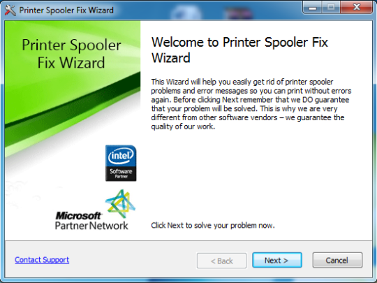 Printer Spooler Fix Wizard