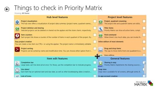 Priority Matrix for Windows 8