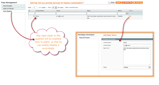 Product Questions Magento Contact Extension