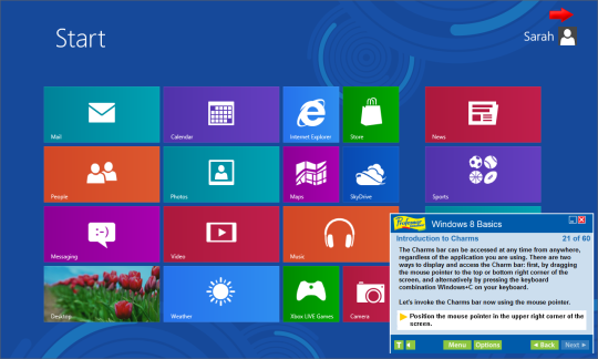 Professor Teaches Windows 8