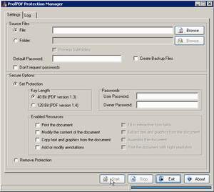 ProfPDF Protection Manager