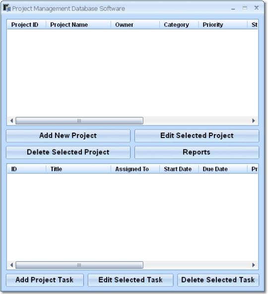 Project Management Database Software