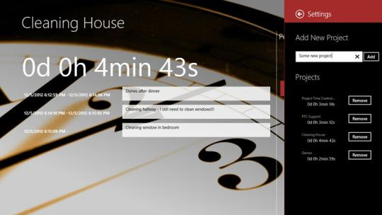 Project Time Control for Windows 8