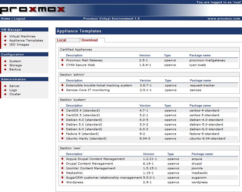 Téléchargement gratuit Proxmox Virtual Environment Pour Linux