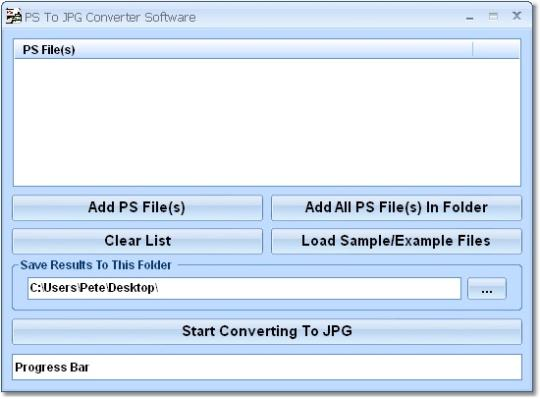 PS To JPG Converter Software