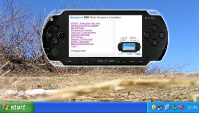 PSP Web Browser Simulator