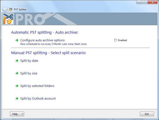 PST Splitter for Outlook