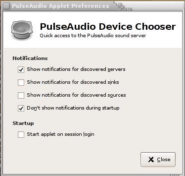 PulseAudio Device Chooser
