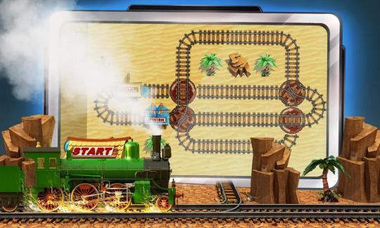 Puzzle Rail Rush Lite